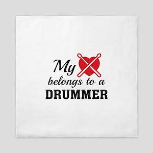 Heart Belongs Drummer Queen Duvet