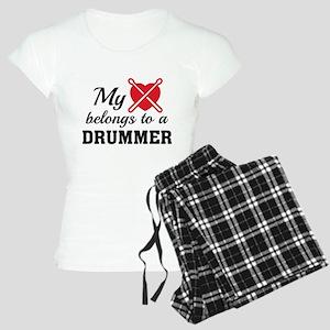 Heart Belongs Drummer Women's Light Pajamas