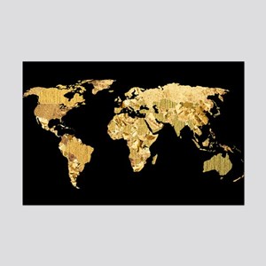 World map posters cafepress gold foil map mini poster print gumiabroncs Choice Image