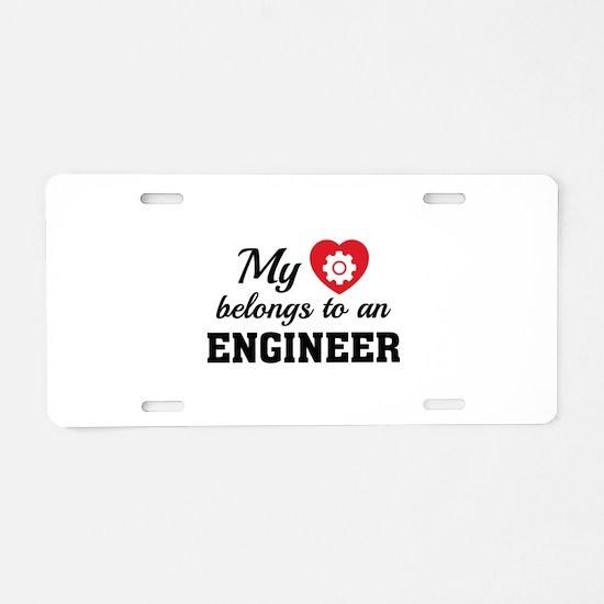 Heart Belongs Engineer Aluminum License Plate
