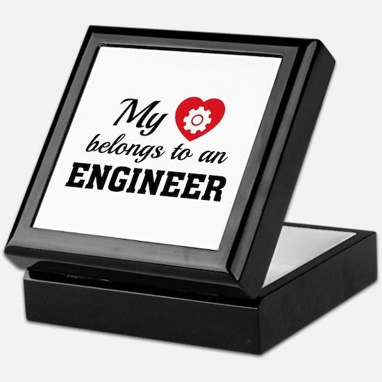 Heart Belongs Engineer Keepsake Box