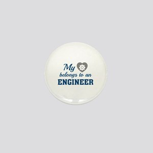 Heart Belongs Engineer Mini Button
