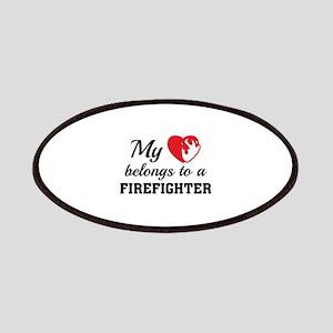 Heart Belongs Firefighter Patches