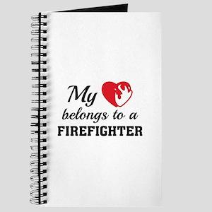 Heart Belongs Firefighter Journal