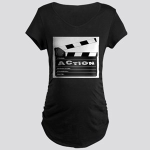 Action Movie Clapperboard Maternity T-Shirt