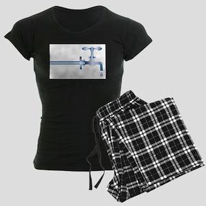 Dripping Faucet Women's Dark Pajamas
