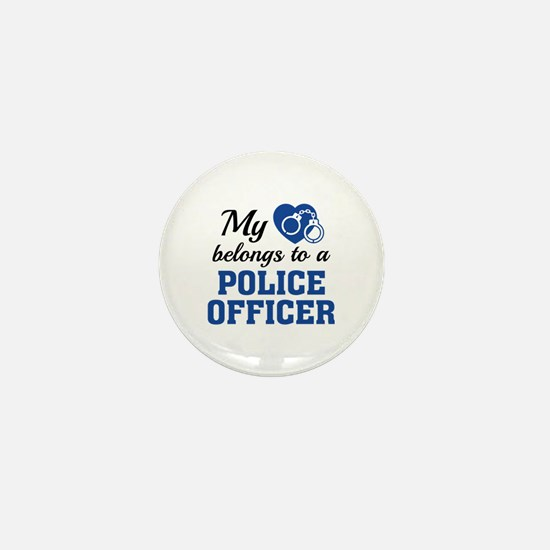 Heart Belongs Police Officer Mini Button