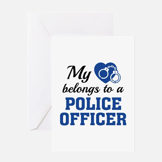 Heart Belongs Police Officer Greeting Card