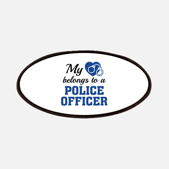 Heart Belongs Police Officer Patches