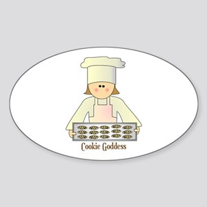 Cookie Goddess Oval Sticker