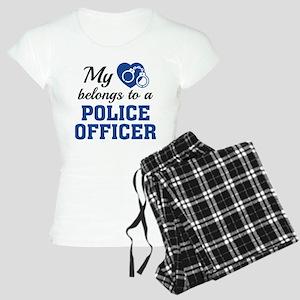 Heart Belongs Police Officer Women's Light Pajamas