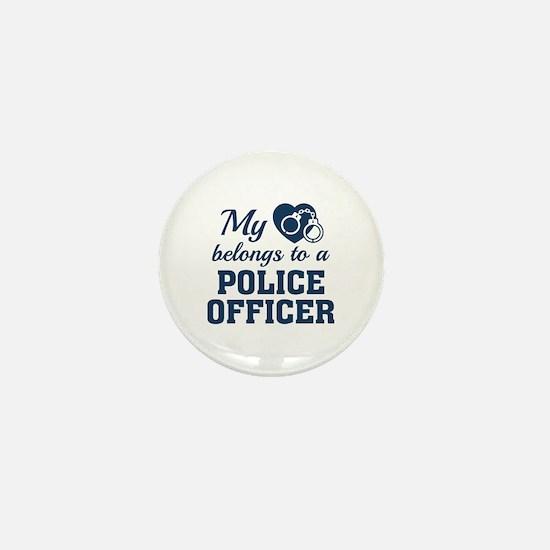 Heart Belongs Police Officer Mini Button
