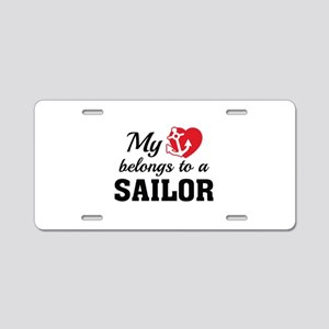 Heart Belongs Sailor Aluminum License Plate