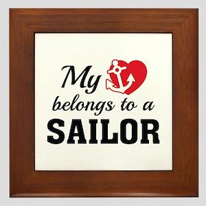 Heart Belongs Sailor Framed Tile