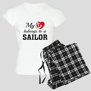 Heart Belongs Sailor Women's Light Pajamas