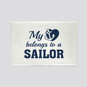 Heart Belongs Sailor Rectangle Magnet