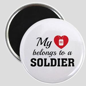 Heart Belongs Soldier Magnet