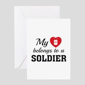 Heart Belongs Soldier Greeting Card