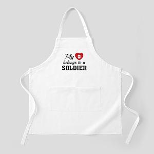 Heart Belongs Soldier Apron