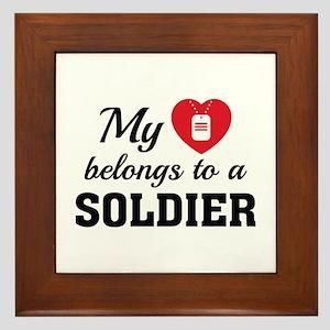 Heart Belongs Soldier Framed Tile