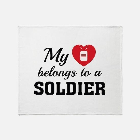 Heart Belongs Soldier Stadium Blanket