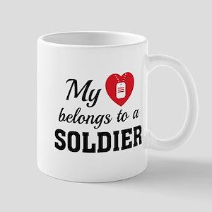 Heart Belongs Soldier Mug