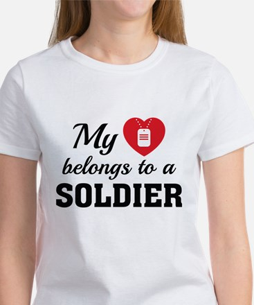 Heart Belongs Soldier Women's T-Shirt
