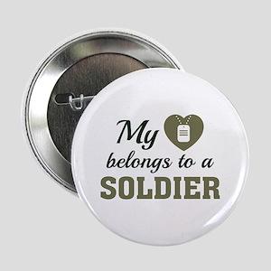 """Heart Belongs Soldier 2.25"""" Button"""