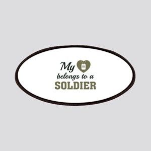 Heart Belongs Soldier Patches