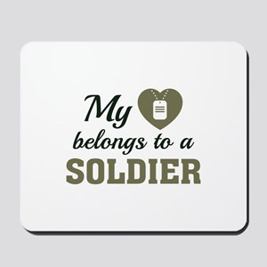 Heart Belongs Soldier Mousepad