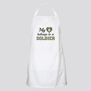 Heart Belongs Soldier Apron