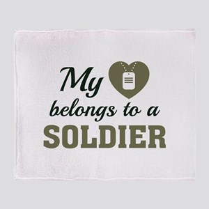 Heart Belongs Soldier Stadium Blanket