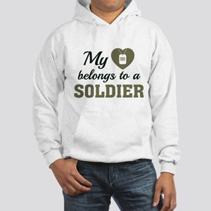 Heart Belongs Soldier Hooded Sweatshirt