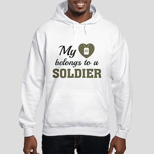 Heart Belongs Soldier Hooded Sweatshirt