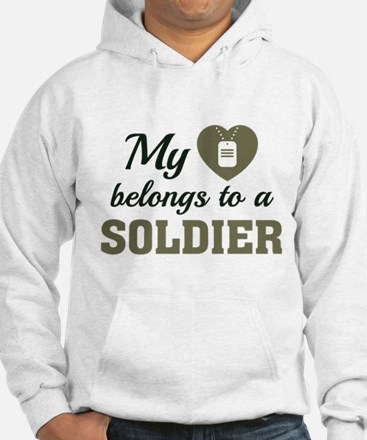 Heart Belongs Soldier Hoodie