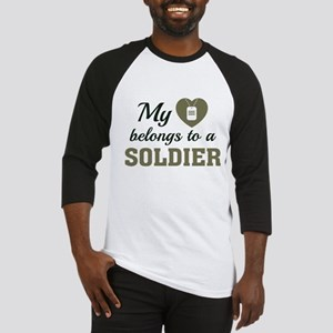 Heart Belongs Soldier Baseball Jersey