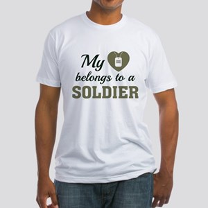 Heart Belongs Soldier Fitted T-Shirt