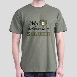 Heart Belongs Soldier Dark T-Shirt