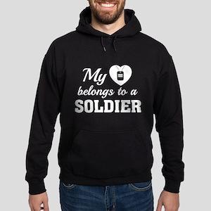 Heart Belongs Soldier Hoodie (dark)