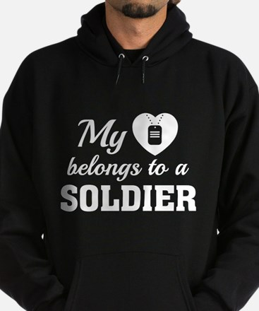 Heart Belongs Soldier Hoodie (dark)