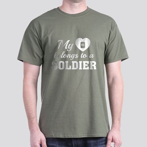 Heart Belongs Soldier Dark T-Shirt