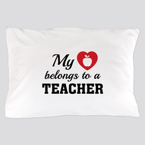 Heart Belongs Teacher Pillow Case