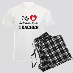 Heart Belongs Teacher Men's Light Pajamas