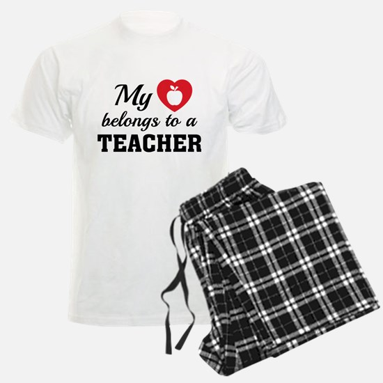 Heart Belongs Teacher Pajamas