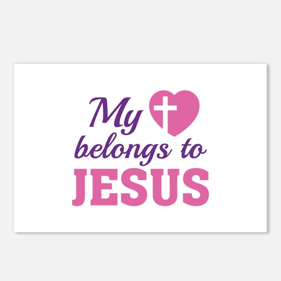 Heart Belongs Jesus Postcards (Package of 8)