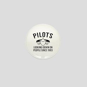 Pilots Looking Down Mini Button
