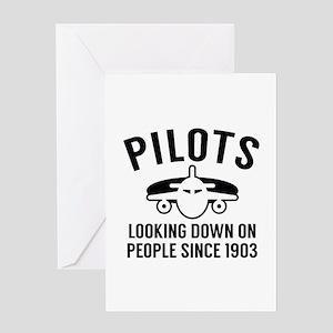 Pilots Looking Down Greeting Card
