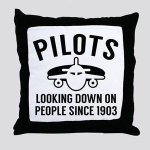 Pilots Looking Down Throw Pillow