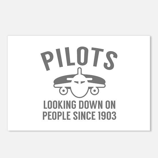 Pilots Looking Down Postcards (Package of 8)