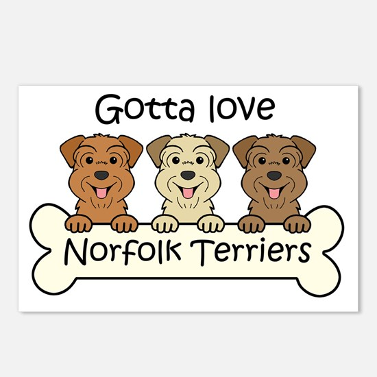 Unique Norfolk terrier Postcards (Package of 8)